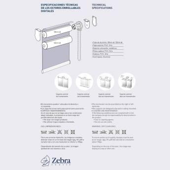 Cortina enrollable cocina REF. 3043 Zebra Textil