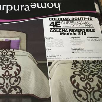 Colcha bouti reversible 815 Purpura Home
