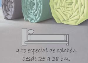 sábana especial alto colchón