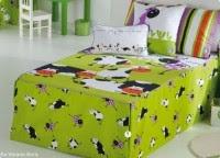 ropa de cama infantil color verde