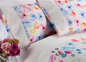sábanas de percal de flores