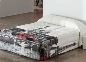Cama y decoración con motivos de Paris. | sedalinne blog
