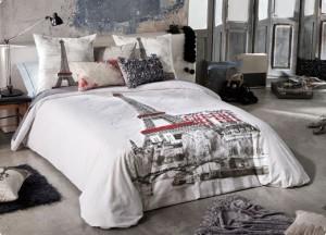 Cama y decoraci n con motivos de paris sedalinne blog for Colchas para camas de 150 con canape