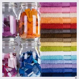 toallas de colores lisos