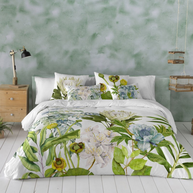 Funda Nordica floral Siara Natural, ultima tendencia en fundas para camas