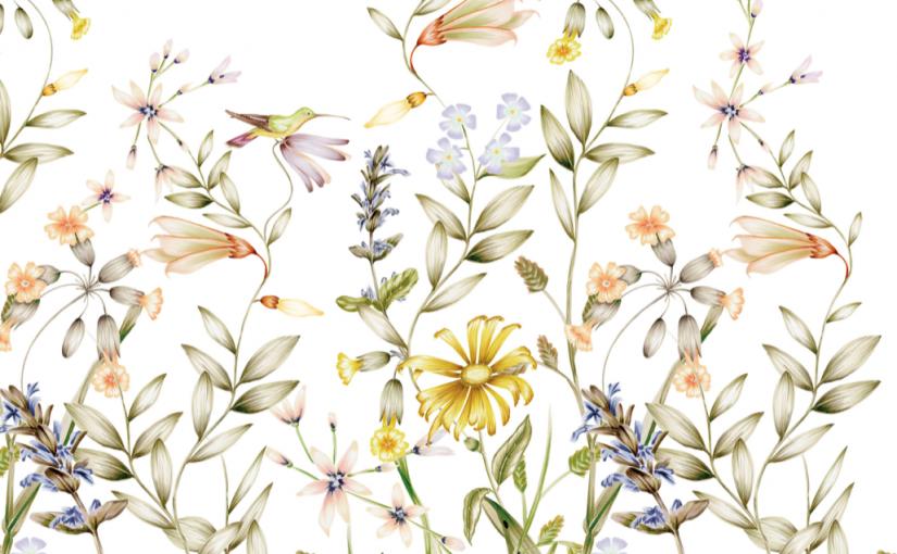 Estampado floral tendencia en decoracion 2021
